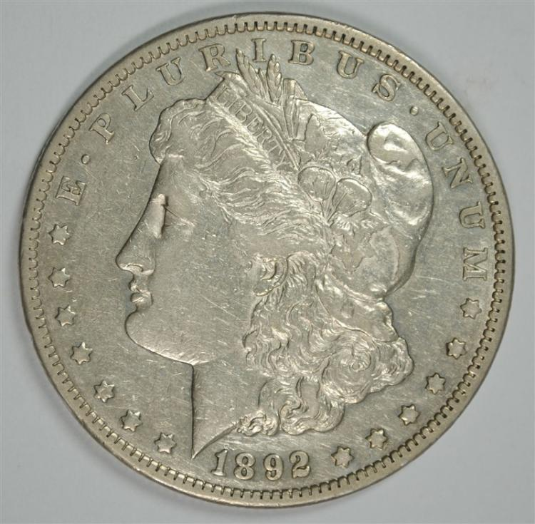 1892-CC MORGAN DOLLAR XF+ KEY DATE
