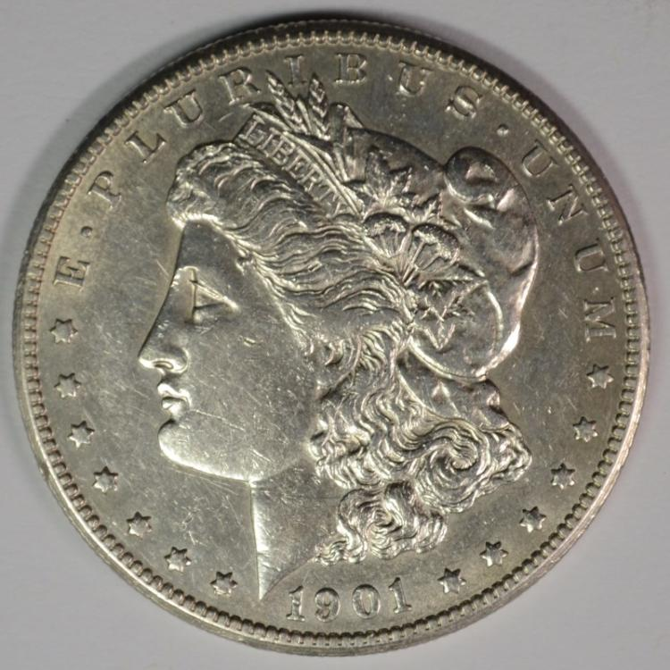 1901-S MORGAN DOLLAR AU/BU  BETTER DATE