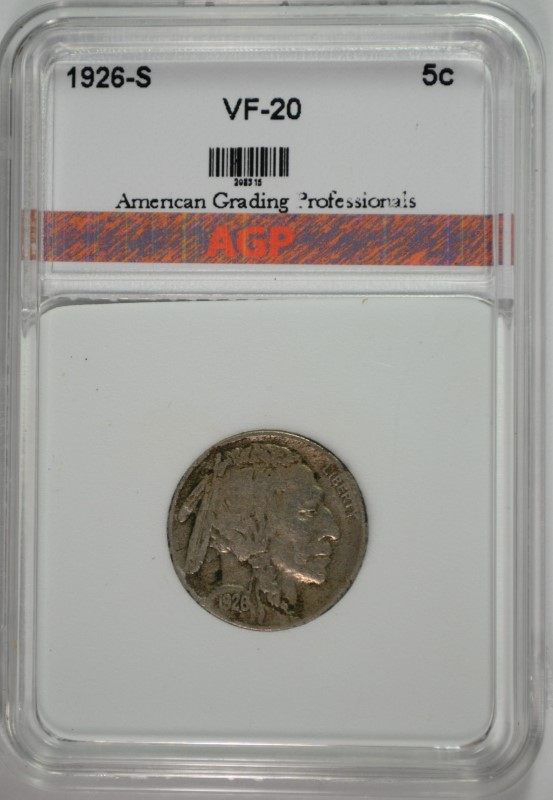 1926-S BUFFALO NICKEL AGP VF