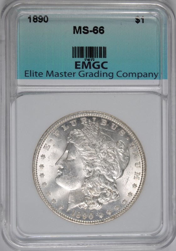 1890 MORGAN SILVER DOLLAR, EMGC  SUPERB GEM BU