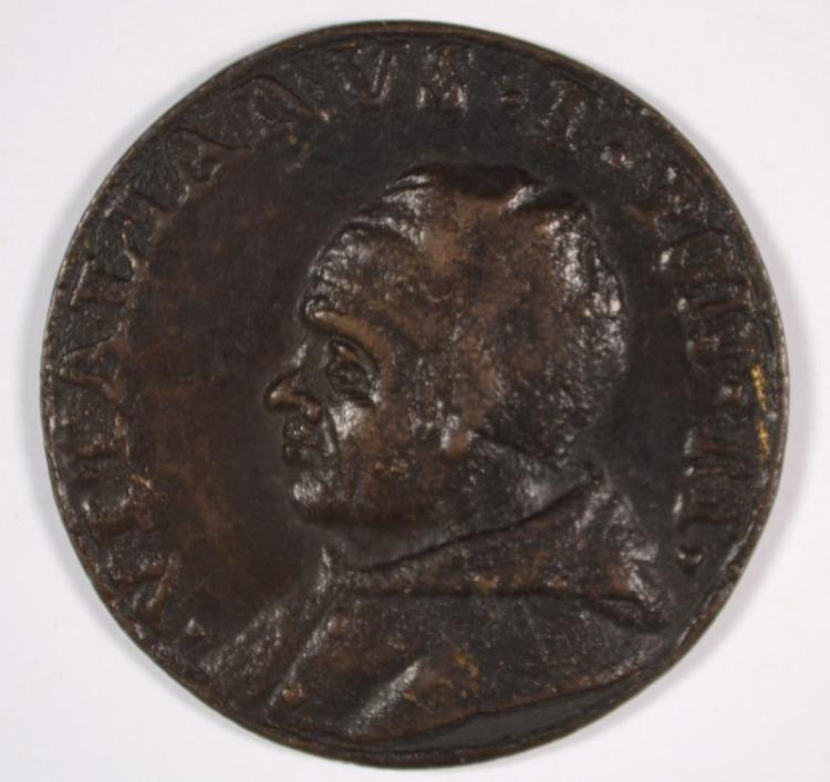 VATICAN BRONZE MEDAL: SAINT VITALIAN A.D. 656-672