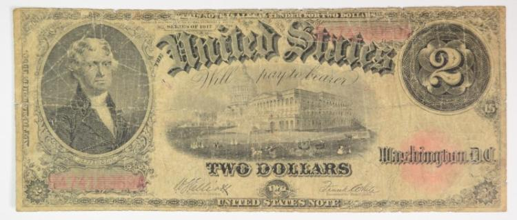 1917 $2 LEGAL TENDER - CIRC