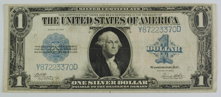 1923 $1 LARGE SILVER CERTIFICATE - VF