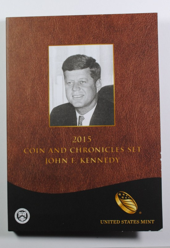 2015 J.F.K. COIN AND CHRONICLES SET IN NICE ORIGINAL PACKAGING
