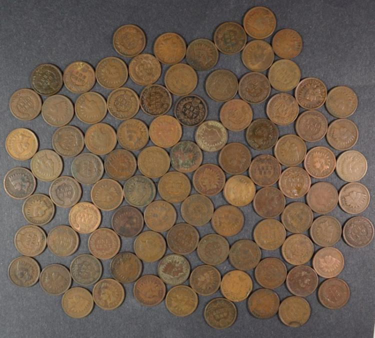 LARGE LOT OF NICE FULL DATE CIRCULATED INDIAN HEAD CENTS:  ( 150 )  TOTAL COINS