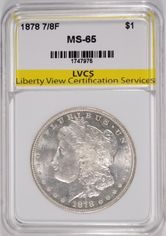 1878 7/8 TF MORGAN SILVER DOLLAR, LVCS GEM BU