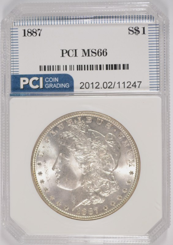 1887 MORGAN SILVER DOLLAR PCI SUPERB GEM BU