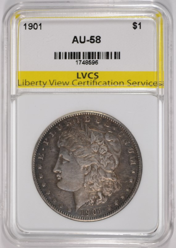 1901 MORGAN SILVER DOLLAR, LVCS AU/BU BETTER DATE