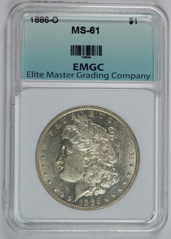 1886-O MORGAN SILVER DOLLAR, EMGC CHOICE BU