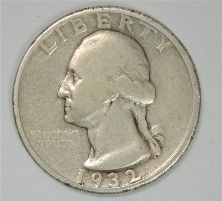 1932-D WASHINGTON QUARTER, VF NICE
