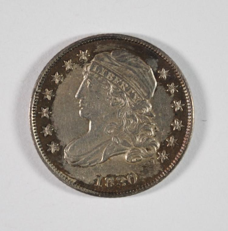 1830 CAPPED BUST DIME, CHOICE BU  NICE TONING