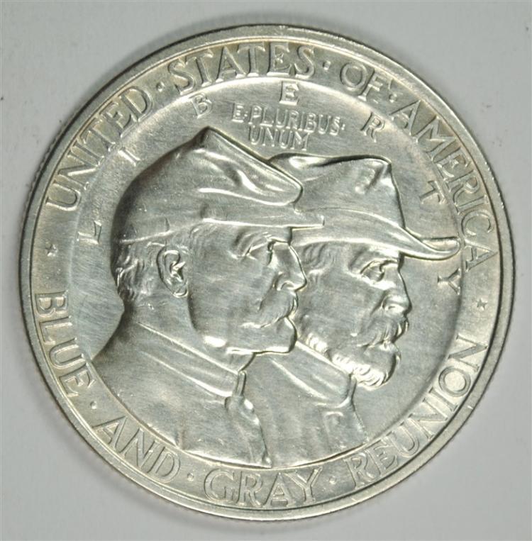 1936 GETTYSBURG COMMEMORATIVE HALF DOLLAR, GEM BU