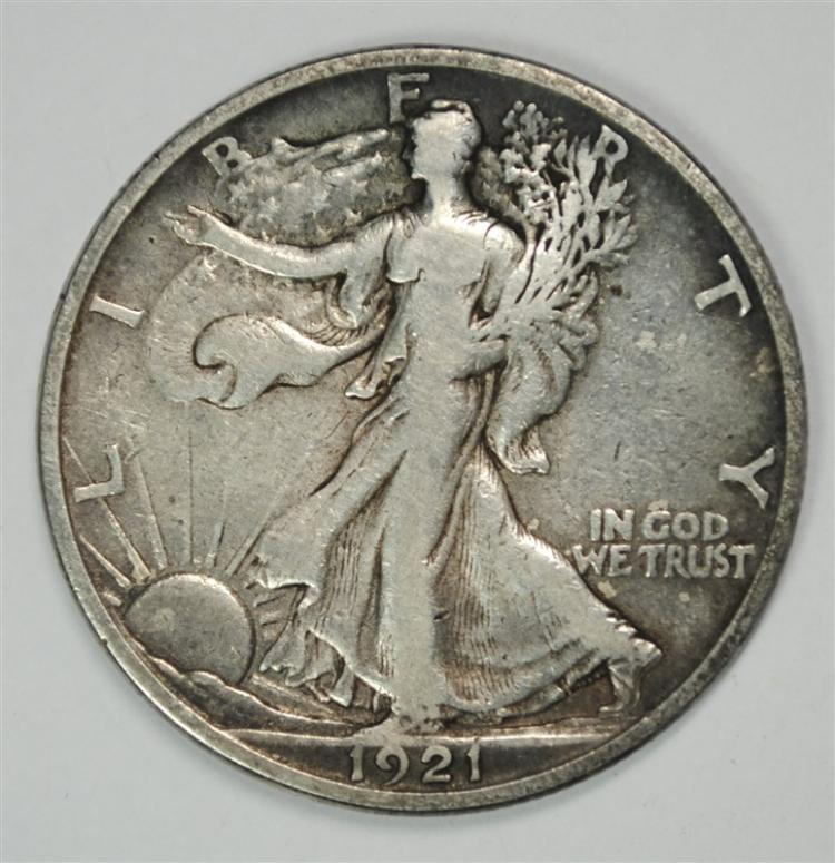 1921-S WALKING LIBERTY HALF KEY DATE VF