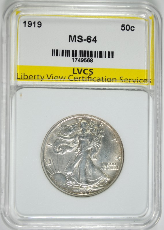 1919 WALKING LIBERTY HALF DOLLAR LVCS CH BU  RARE