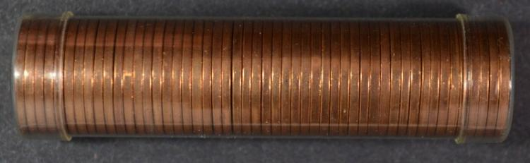 ORIGINAL GEM BU ROLL OF 1945-S LINCOLN CENTS