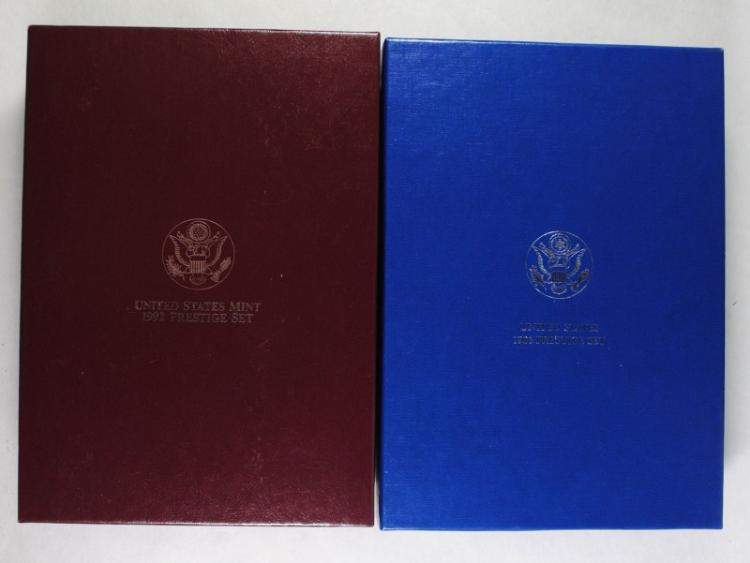 1986 & 1992 U.S. MINT PRESTIGE PROOF SET IN NICE ORIGINAL PACKAGING