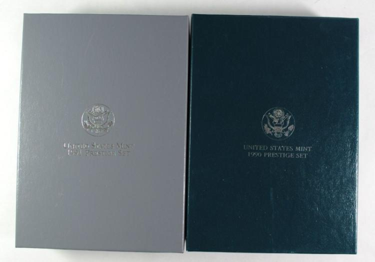 1990 & 1991 U.S. MINT PRESTIGE PROOF SETS