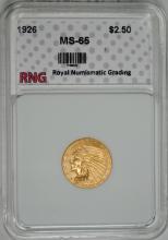 1926 $2.50 GOLD INDIAN RNG GEM BU