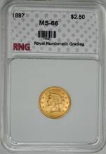 1897 $2.50 GOLD LIBERTY SUPERB RNG GEM BU