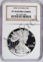 2006W silver Eagle NGC PF70 ULTRA CAMEO est $100-$125