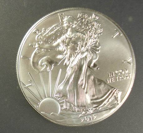 2012 AMERICAN SILVER EAGLE, GEM BU