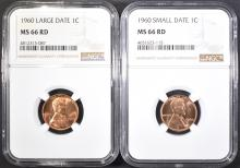 Lot 7: 1960 SD & LD LINCOLN CENTS