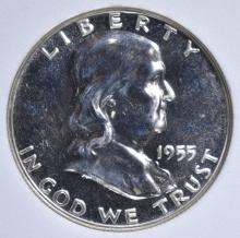 Lot 22: 1955 FRANKLIN HALF DOLLAR, WHSG