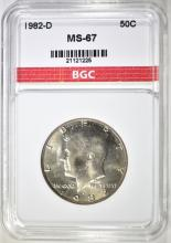 Lot 30: 1982-D KENNEDY HALF DOLLAR, BGC SUPERB GEM