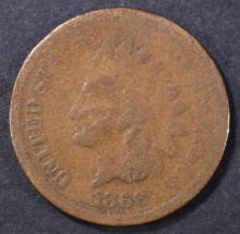 Lot 41: 1866 INDIAN CENT GOOD