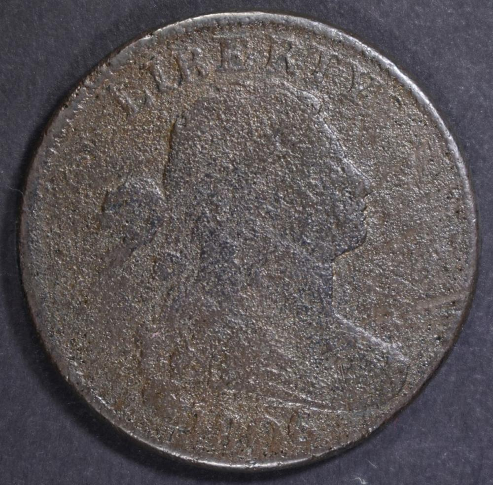 1806 LARGE CENT, VG corrosion