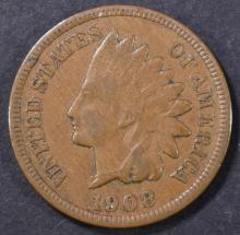 Lot 45: 1908-S INDIAN CENT VF