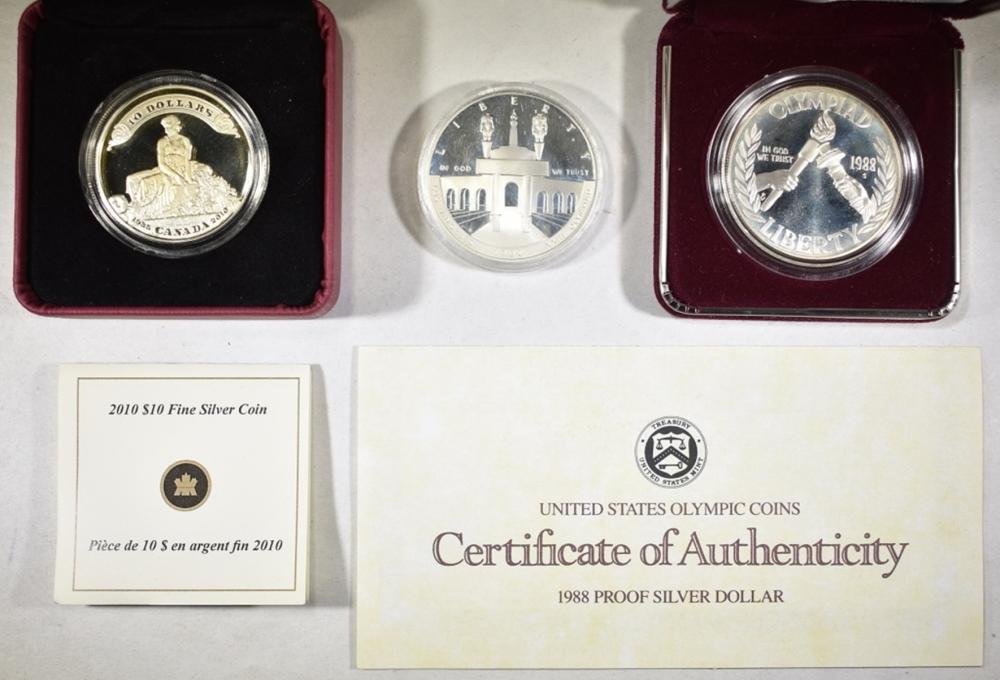3 SILVER PROOF COIN LOT: