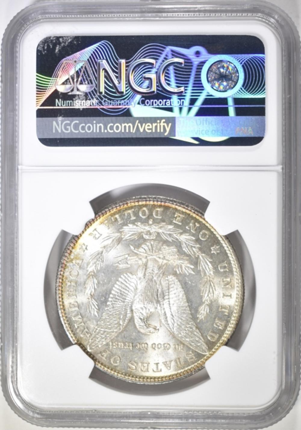 Lot 60: 1887-S MORGAN DOLLAR NGC MS-62