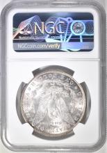 Lot 61: 1885-S MORGAN DOLLAR NGC AU-58