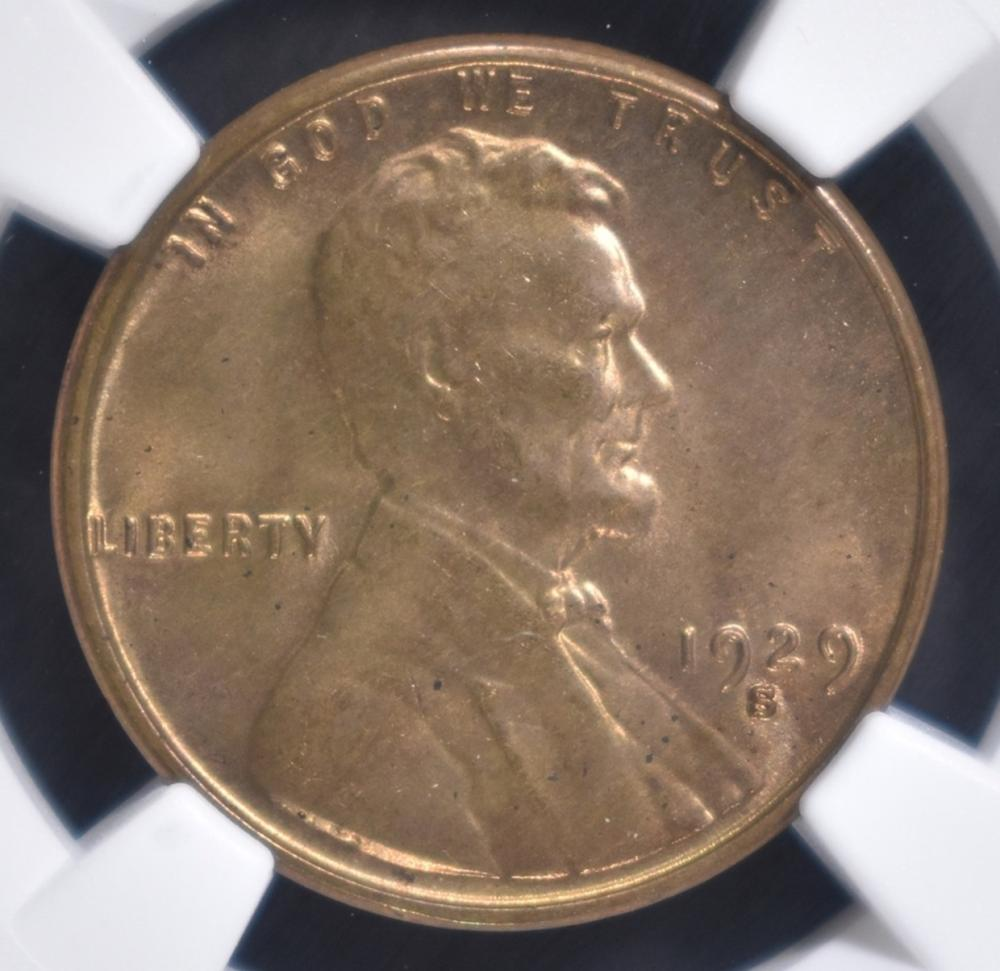 Lot 68: 1929-S LINCOLN CENT NGC MS-64 RB