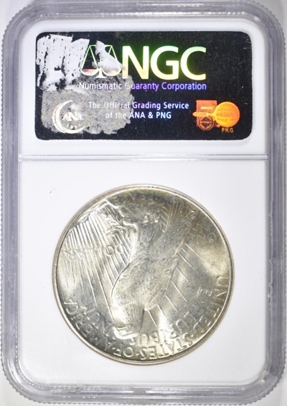 Lot 65: 1934 PEACE DOLLAR NGC MS-63