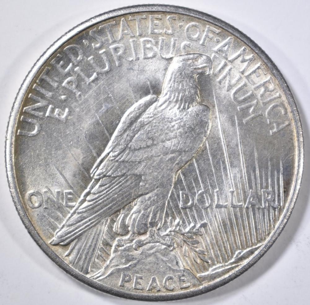 Lot 71: 1921 PEACE DOLLAR BU