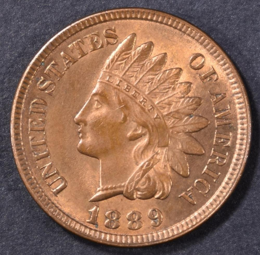 1889 INDIAN CENT  CH BU RB