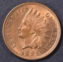 Lot 74: 1889 INDIAN CENT CH BU RB