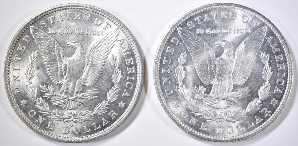 Lot 75: 1882-O & 1904-O MORGAN DOLLARS CH/GEM BU