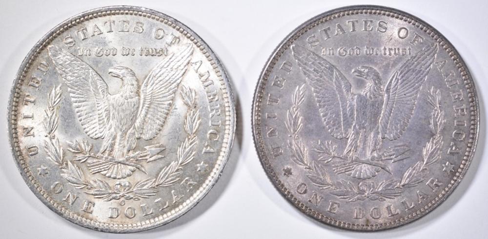 Lot 76: 1885-O & 87 MORGAN DOLLARS CH/GEM BU