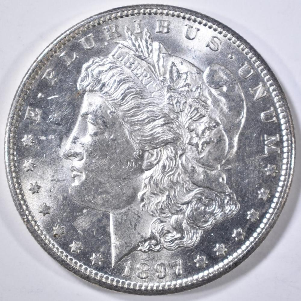 Lot 81: 1897-S MORGAN DOLLAR CH BU
