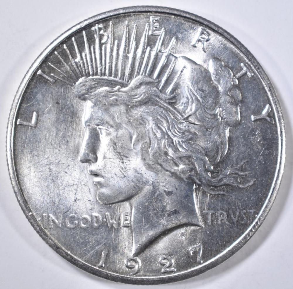 1927-S PEACE DOLLAR  CH BU