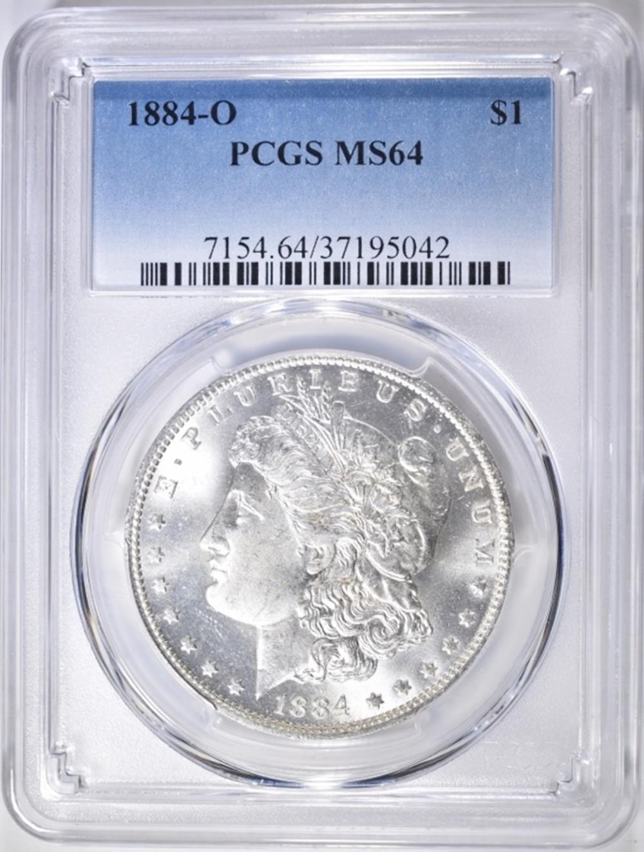 Lot 93: 1884-O MORGAN DOLLAR PCGS MS-64