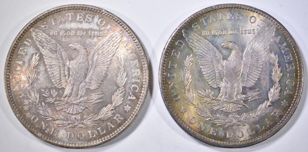 Lot 86: 1886 & 1902-O MORGAN DOLLARS CH BU COLOR