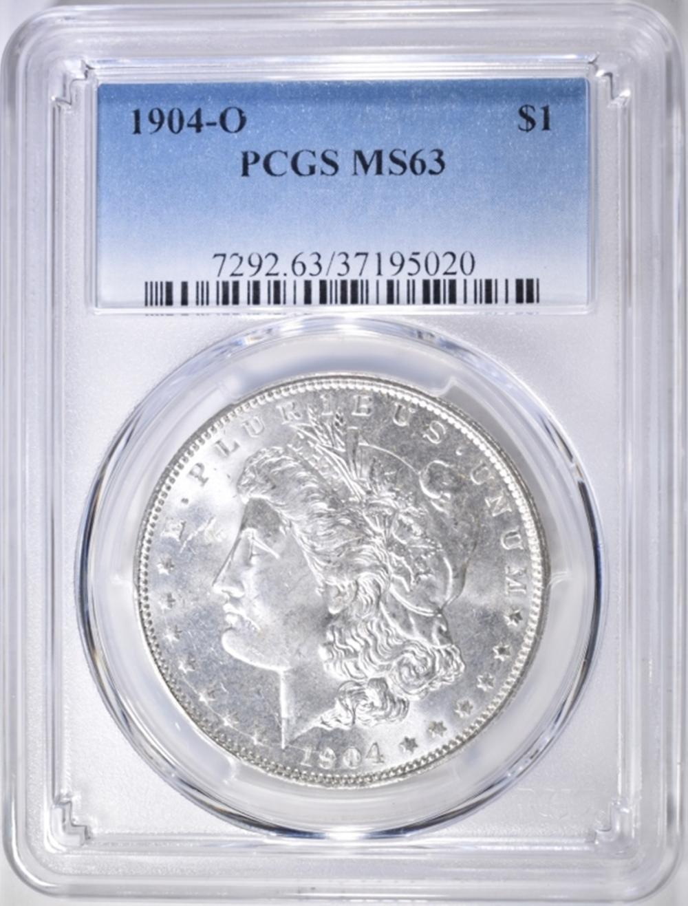 Lot 95: 1904-O MORGAN DOLLAR PCGS MS-63