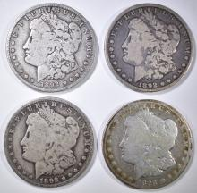 Lot 106: 4 1892-O MORGAN DOLLARS CIRC