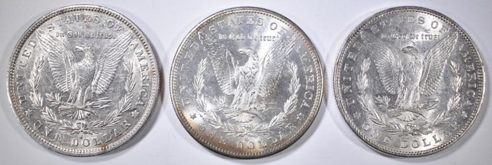 Lot 104: 1881-P,S, 82-O MORGAN DOLLARS BU