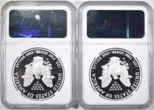 Lot 119: 2 2010-W ASE EARLY RELEASES NGC PF-70 ULTRA CAMEO