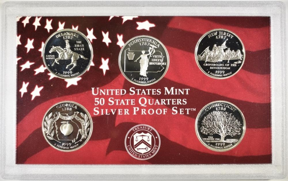 Lot 144: 1999 US MINT SILVER PROOF SET W/ COA